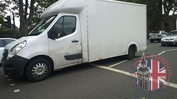 Professional man and van in London