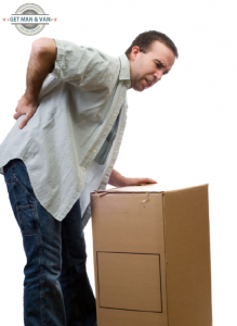 Moving heavy boxes, back problems