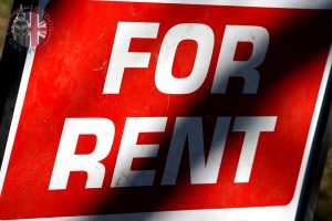 Sign saying For Rent